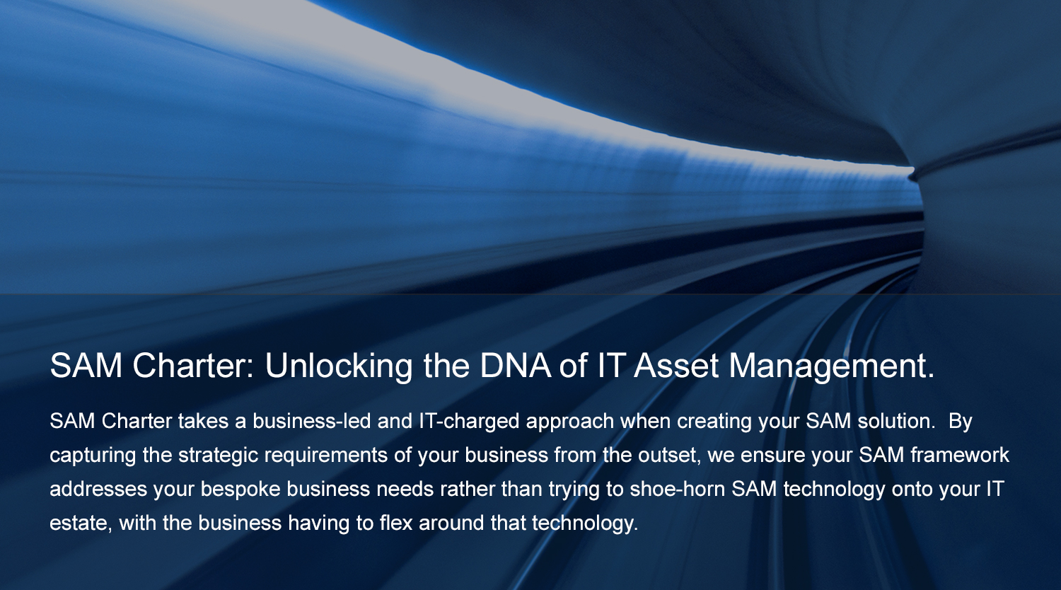 SAM Charter: Unlocking the DNA of IT Asset Management.